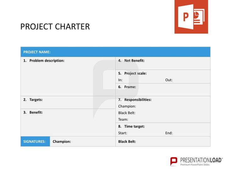 project charter example six sigma
