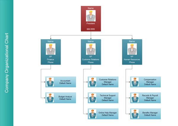 functional organizational structure example company