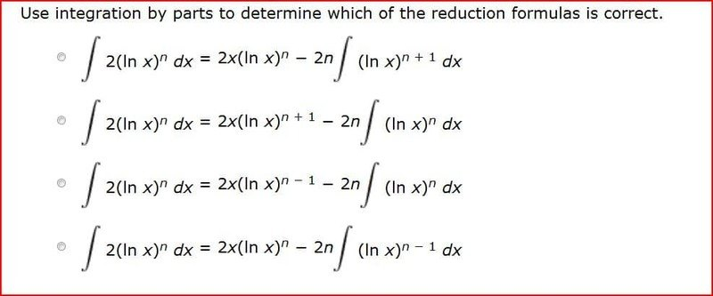 integration by parts example problems