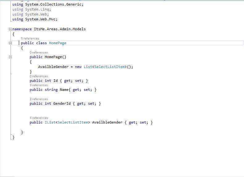 html dropdownlist example mvc 4