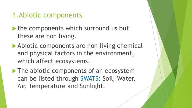 which of these is an example of the abiotic environment