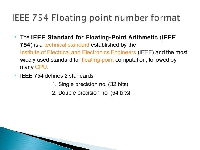 ieee floating point representation example