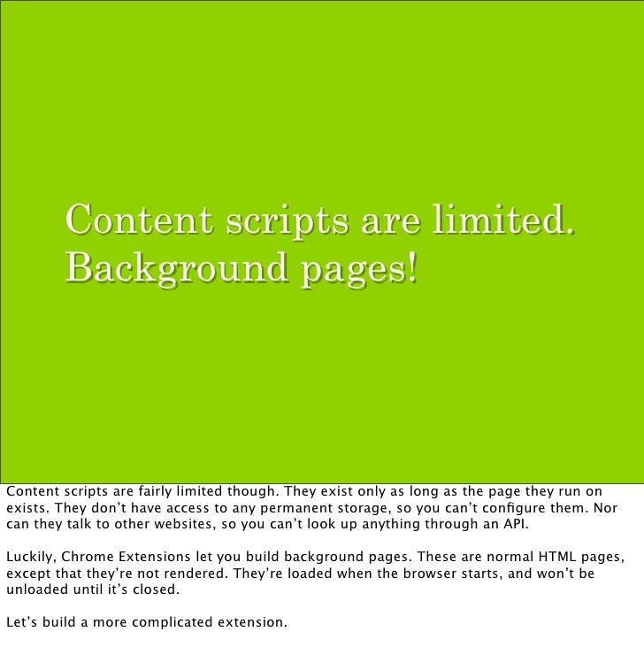 chrome extension background script example