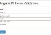 angularjs registration form validation example