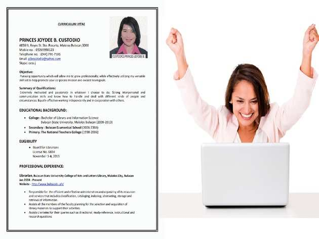 how to write a cv resume example