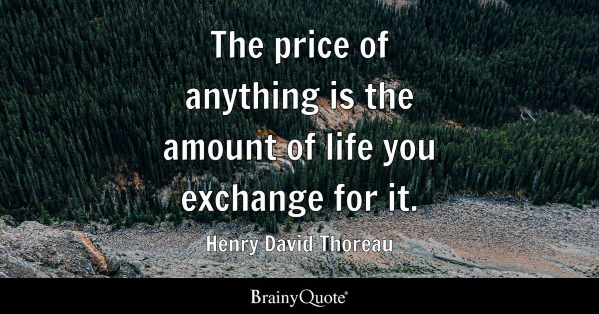 price we pay idiom like a sacrifice example