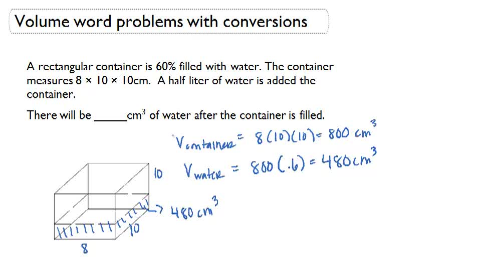 volume of cylinder example problems