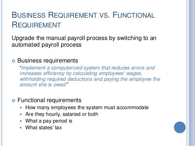 high level functional requirements document example