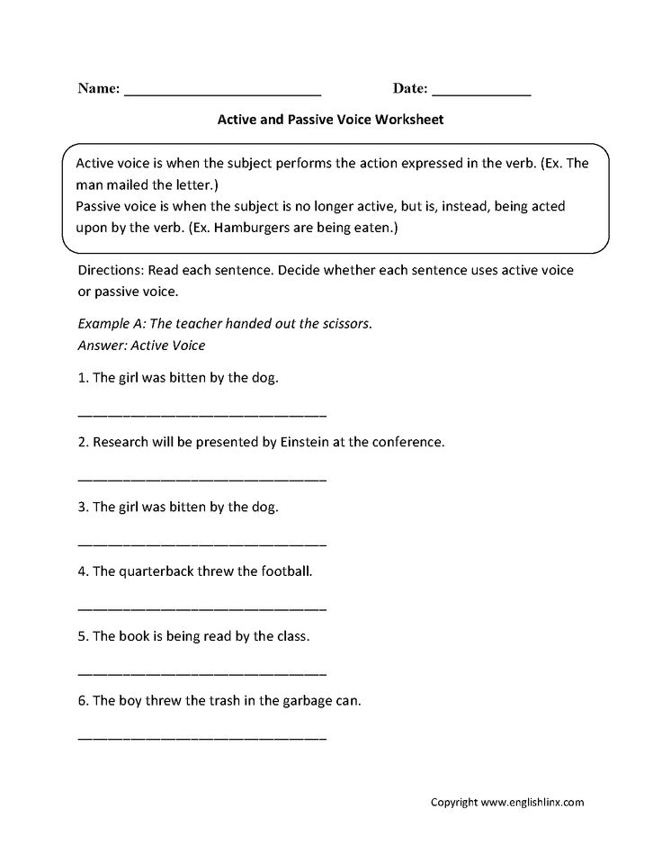 example of active voice to passive voice