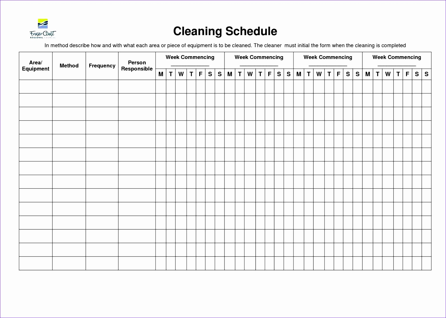 example schedule machinery changing project management