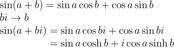 definition of sinhx and example