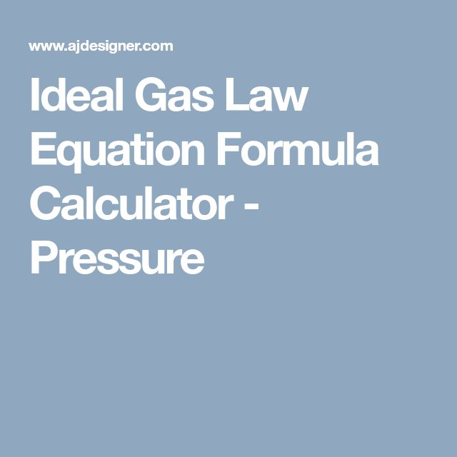 ideal gas law equation example