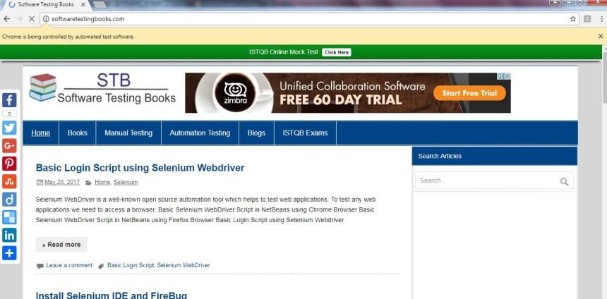 selenium webdriver test suite example