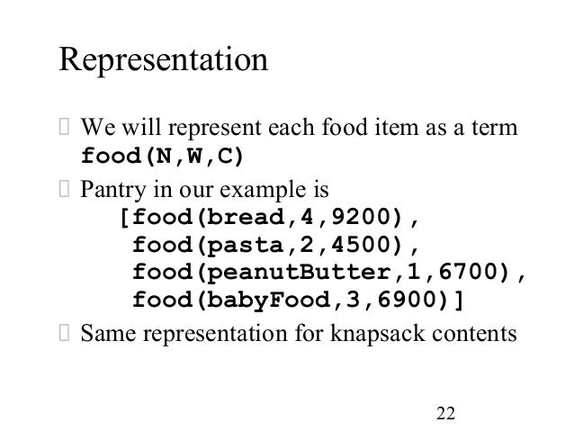 knapsack problem using greedy method example