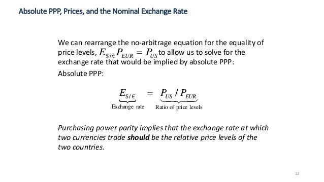 purchasing power parity calculation example