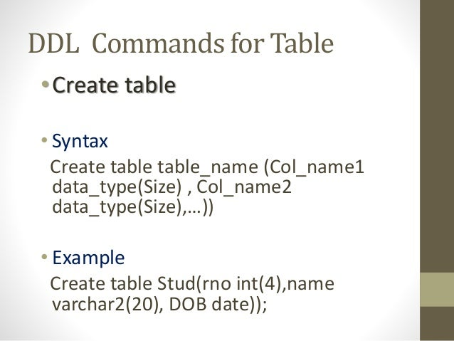 mysql create index syntax example