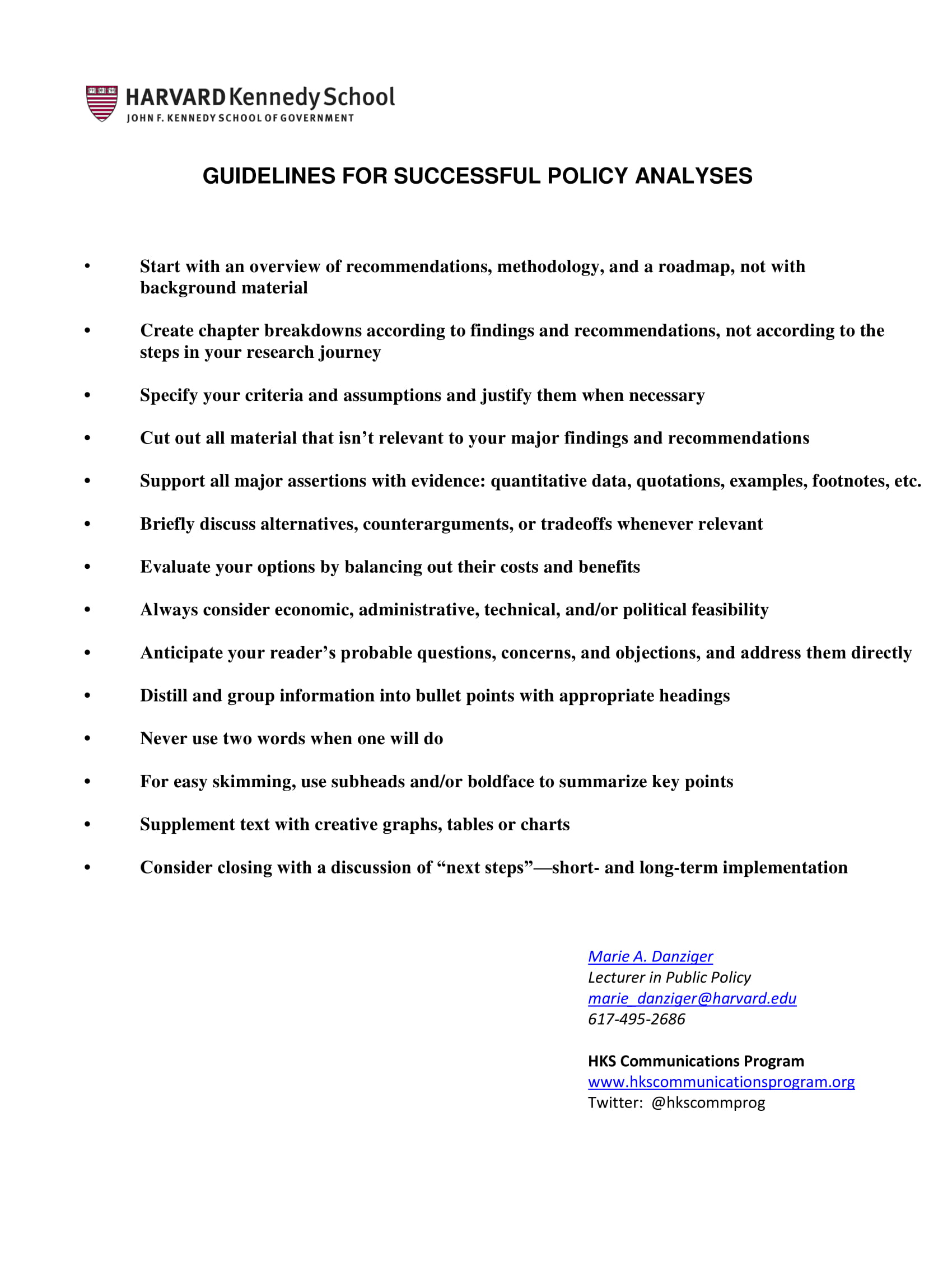 policy development example for nutrition