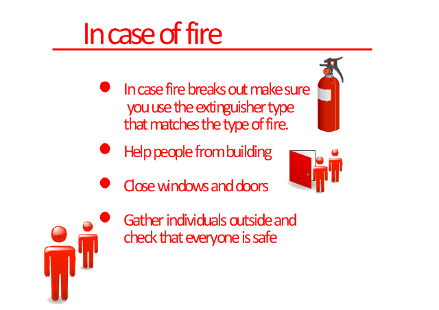flowchart for the fire emergency evacuation plan example