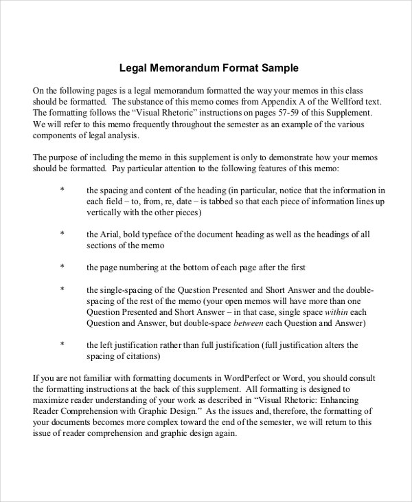 legal memo statement of facts example