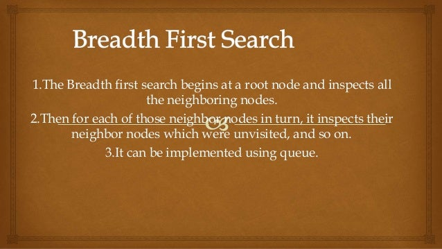 what is breadth first search with example