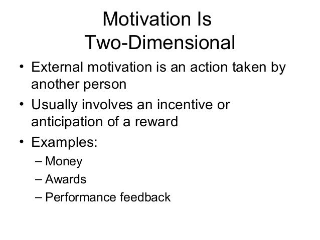 what is self motivation example