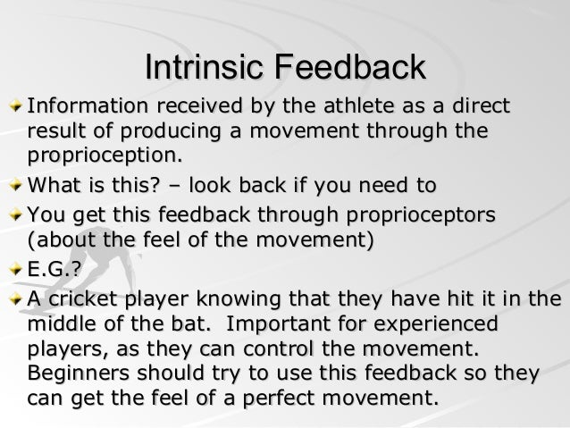 practical example of intrinsic feedback