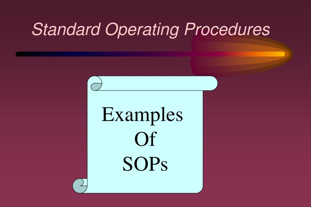 sanitation standard operating procedures example