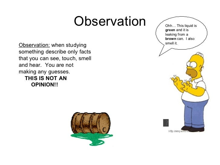 which is an example of making a qualitative observation