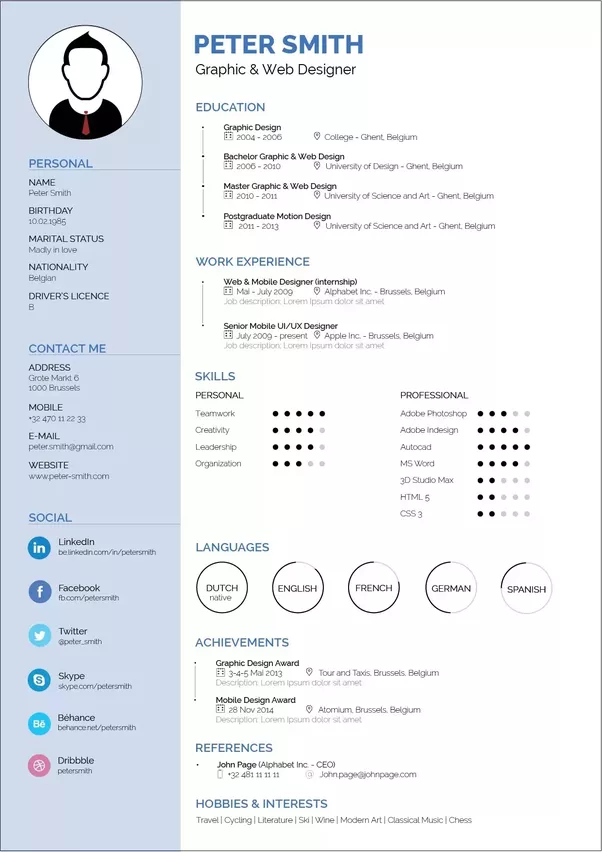 how to make a good cv example