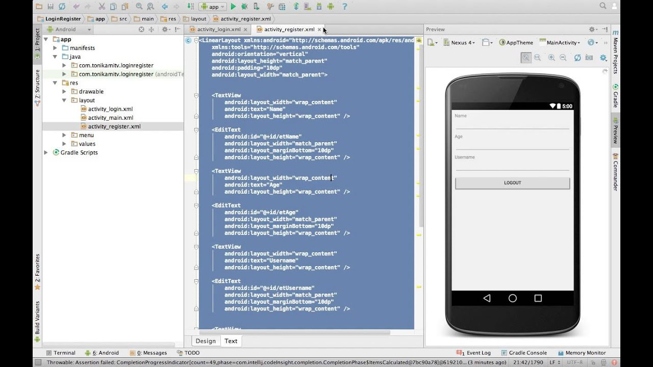 android service without activity example