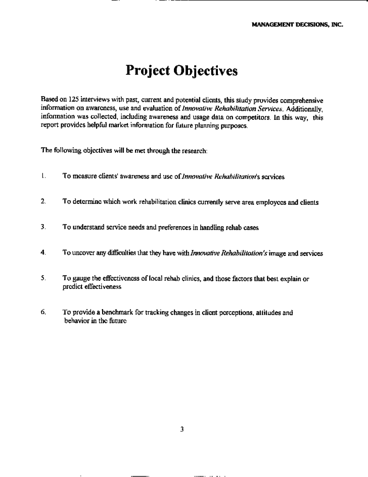 example of field study report