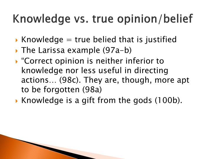 example of a justified true belief