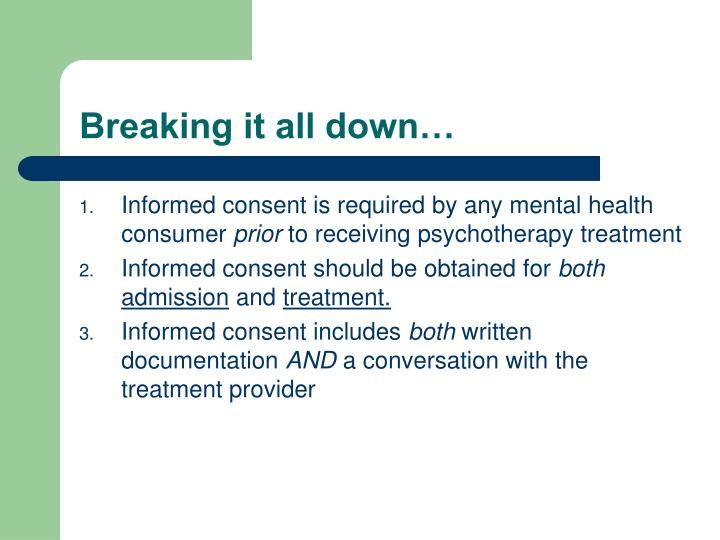 example of informed consent requirements