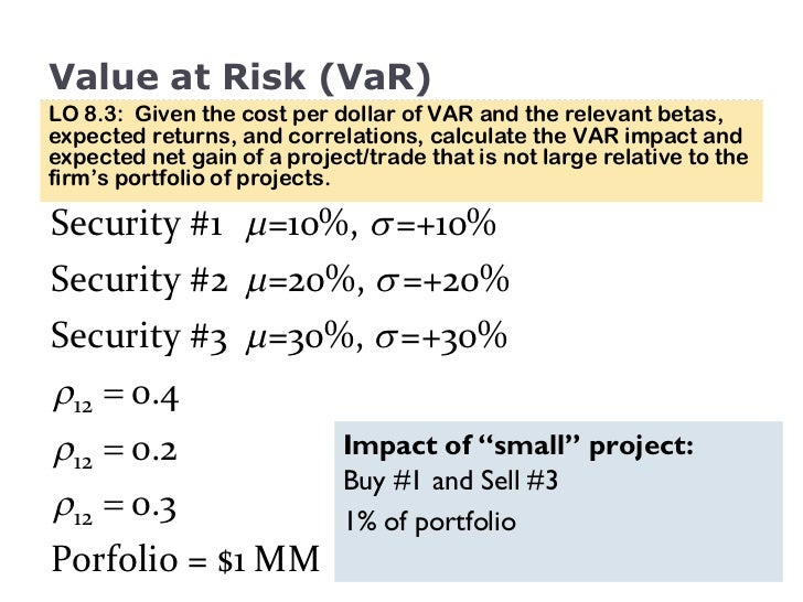 example of risk return trade off