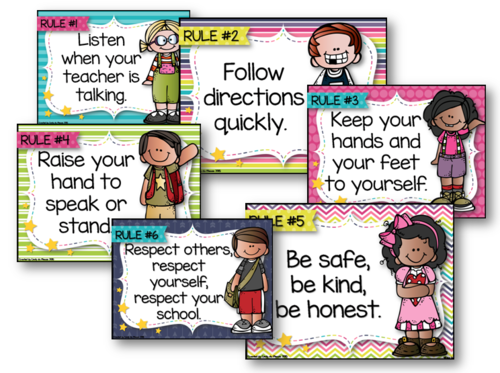 example of rules and regulations inside the classroom