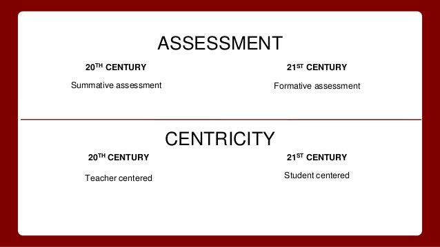 example of summative assessment 21st century learning