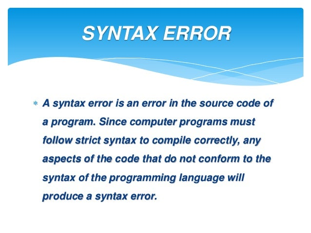 example of syntax in programming