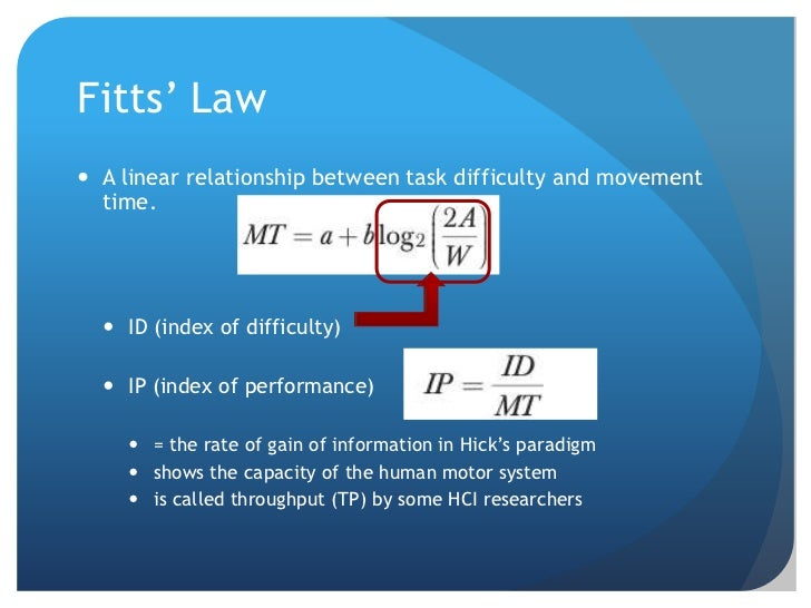 fitts law example in sports