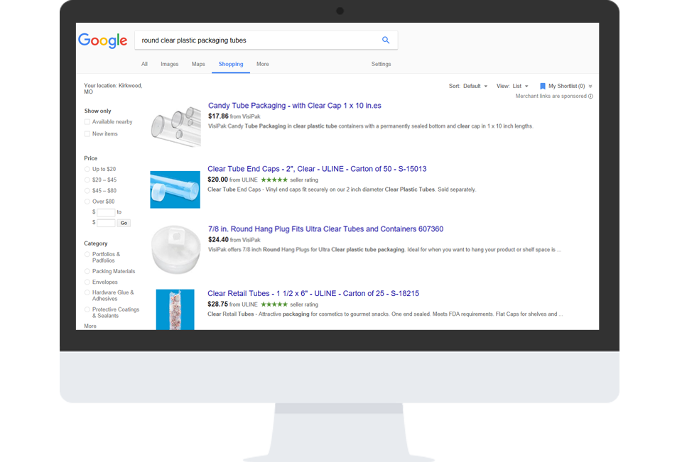 google shopping data feed example