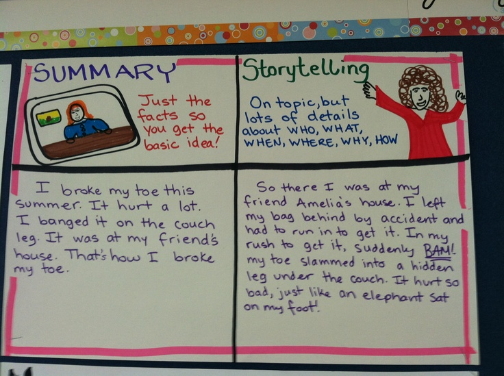 how to summarize a story example
