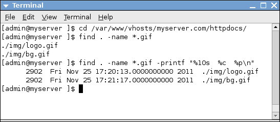 linux find file by name example