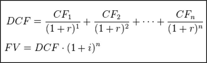 present value of future cash flows example