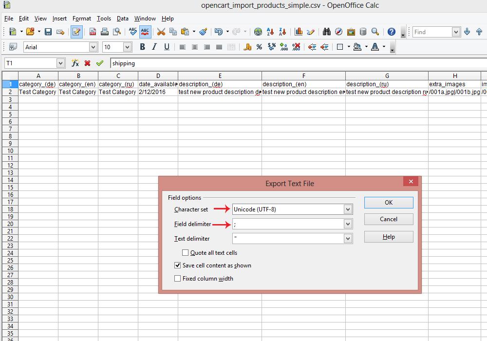 prestashop 1.6 csv import example