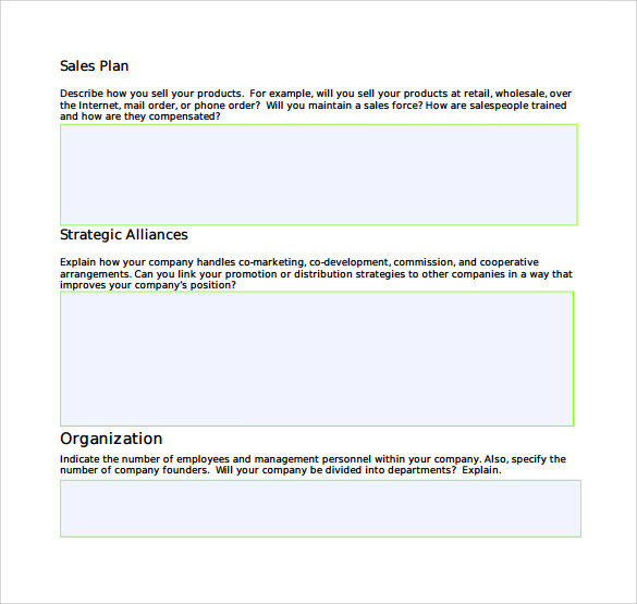 sales information package example format template