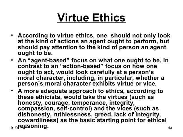 virtue ethics example in business