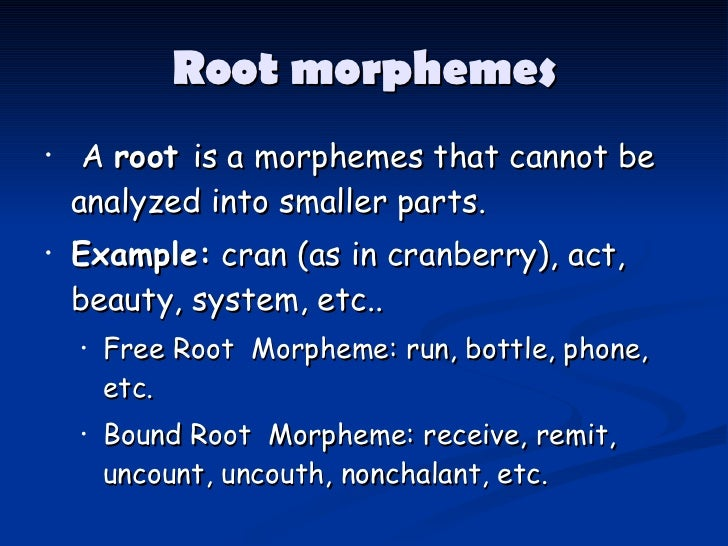 what is a morpheme example